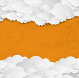 Vintage Orange Background With Clouds Royalty Free Stock Image