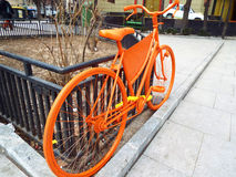 Vintage orange bike design Royalty Free Stock Image