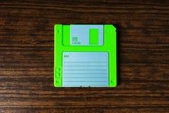 Vintage orange floppy disc background Stock Image