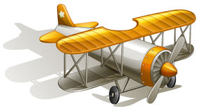 A vintage orange and gray coloured plane Stock Image