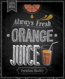 Vintage Orange Juice - Chalkboard. Stock Photography