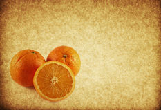 Vintage orange paper textured background Royalty Free Stock Images