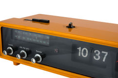 Vintage orange radio clock Royalty Free Stock Image