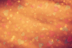Vintage orange red heart abstract Stock Image