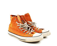 Vintage orange shoes Royalty Free Stock Image