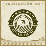 Vintage Organic Natural Product Label vector illustration