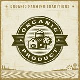 Vintage Organic Product Label stock illustration