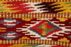 Vintage,   oriental, colorful handmade traditional woolen rug 6 Stock Images