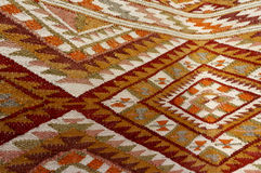 Vintage,   oriental, colorful handmade traditional woolen rug 13 Royalty Free Stock Photo
