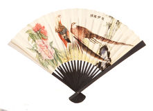Vintage oriental fan Stock Photo