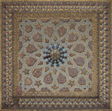 Vintage oriental patterns decorate the ceiling. Vintage oriental patterns decorate the ceiling in Bukhara Royalty Free Stock Photography