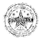 Vintage Original Rubber Stamp. Damnaged Grunge and Vintage Original Rubber Stamp Stock Image