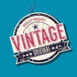 Vintage original tag. Vintage original product  tag Royalty Free Stock Photos
