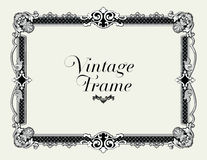 Vintage Ornament Border. Decorative Floral Frame Vector. Vintage Ornament Border. Decorative Floral Frame Vector for invitations and photo frames Royalty Free Stock Photos
