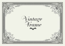 Vintage Ornament Border. Decorative Floral Frame Vector. Stock Image