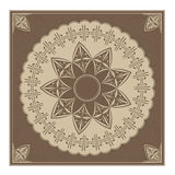 Vintage ornament brown Royalty Free Stock Image