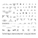 Set of ornament collection - vintage logo design royalty free stock images