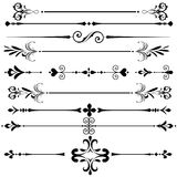 Vintage Ornament decorative rule lines. In black vector form stock illustration