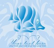 Vintage ornament fish on blue background vector Stock Photos