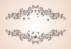 Vintage ornament with floral elements Royalty Free Stock Images