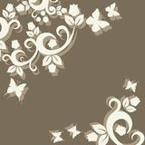 Vintage ornament with floral elements Stock Images