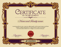 Vintage Ornament frame Certificate of Achievement Stock Photos