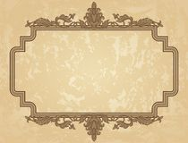 Vintage ornament frame Royalty Free Stock Photos