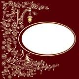 Vintage ornament frame Stock Image