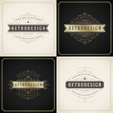 Vintage ornament golden and grunge style border Stock Photography
