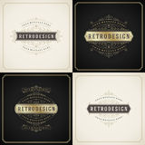 Vintage ornament golden and grunge style border Royalty Free Stock Images