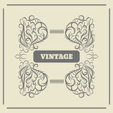 Vintage Ornament Greeting Card Vector Template eps 10 Royalty Free Stock Photography
