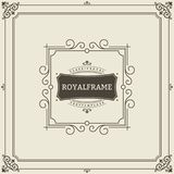 Vintage Ornament Greeting Card Vector Template. Retro Luxury Invitation, Royal Certificate. Flourishes frame. Vintage. Background, Vintage Frame, Vintage Royalty Free Stock Image