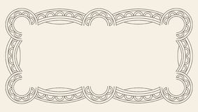 Vintage Ornament Greeting Card Vector Template. Retro Luxury Invitation, Royal Certificate. Flourishes frame. Vintage. Background, Vintage Frame, Vintage vector illustration