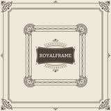 Vintage Ornament Greeting Card Vector Template. Retro Luxury Invitation, Royal Certificate. Flourishes frame. Vintage. Ornament, Ornamental Frame stock illustration