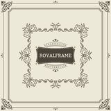 Vintage Ornament Greeting Card Vector Template. Retro Luxury Invitation, Royal Certificate. Flourishes frame. Vintage. Ornament, Ornamental Frame vector illustration