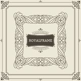 Vintage Ornament Greeting Card Vector Template. Retro Luxury Invitation, Royal Certificate. Flourishes frame. Vintage. Background, Vintage Frame, Vintage royalty free illustration