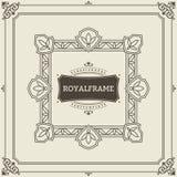 Vintage Ornament Greeting Card Vector Template. Retro Luxury Invitation, Royal Certificate. Flourishes frame. Vintage. Background, Vintage Frame, Vintage stock illustration