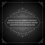 Vintage Ornament Quote Marks Box Frame Vector Royalty Free Stock Image