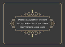 Vintage Ornament Quote Marks Box Frame Vector Stock Photography