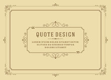Vintage Ornament Quote Marks Box Frame Vector Stock Photo
