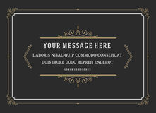 Vintage Ornament Quote Marks Box Frame Vector Royalty Free Stock Photography