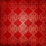 Vintage ornament red background Stock Photography