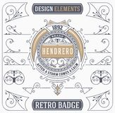 Vintage Ornament and Retro Badge. Design Elements. Vintage Ornament and Retro Badge. Vector file Stock Photos