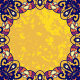 Vintage ornament round frame for text. Stylized Royalty Free Stock Photography