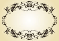 Vintage ornament yellow background stock photography