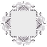 Vintage ornament for your business. On a white background. Ethnic vintage ornament background for your business Stock Images