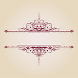 Vintage Ornamental Banner Royalty Free Stock Photo