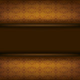 Vintage ornamental brown background with board Royalty Free Stock Photography