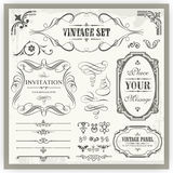 Vintage Ornamental Calligraphic Designs Stock Images