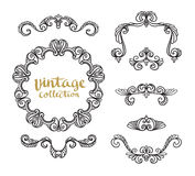 Vintage Ornamental Calligraphic Designs Set. Stock Images
